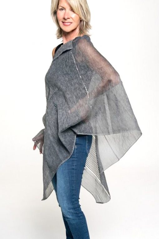 sheer gray evening top cover