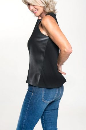 vegan leather tank top