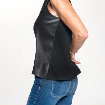 vegan leather tank top