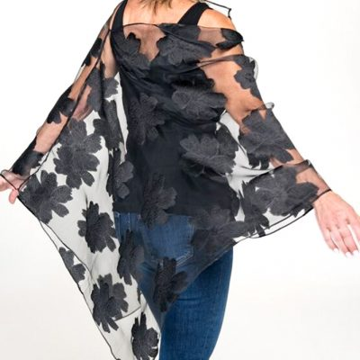 sheer black cover womens evening wear