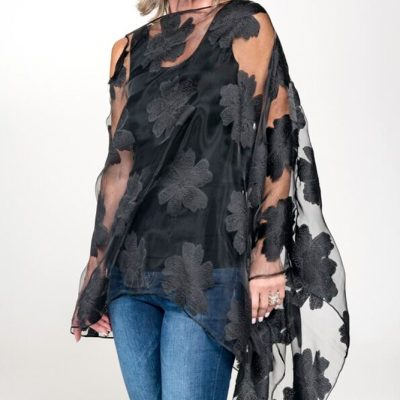 evening wear cover shaw black